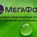 Как узнать, какие услуги подключены на Мегафоне